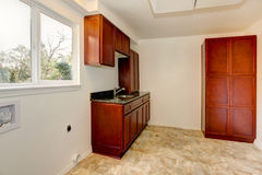 Empty laundry room interior. royalty free stock image