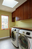 Empty laundry room with skylight Royalty Free Stock Photography