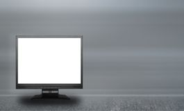 Empty lcd screen. Against abstract background, ready to fill in Royalty Free Stock Photography