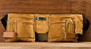 Empty leather carpenter belt Stock Images