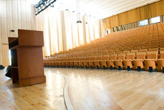 Empty lecture hall. An empty lecture hall in a University Royalty Free Stock Photography