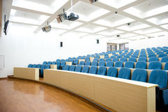 Empty lecture hall. Empty college lecture hall in university Stock Images