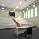 Empty Lecture Hall in University Stock Photo