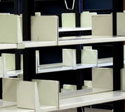 Empty Library Shelves Royalty Free Stock Image