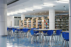 Empty library. Tables and chairs in anuniversity library royalty free stock photo