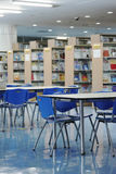Empty library. Tables and chairs in an university library. china stock images