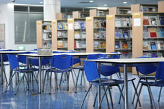 Empty library. An university library of china stock photography