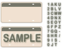 Empty License Plate Royalty Free Stock Images