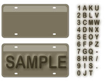 Empty License Plate Royalty Free Stock Image