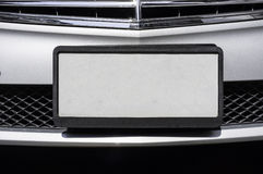 Empty License Plate. Of luxury car Stock Photography
