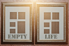 Empty life, concept words on blank picture Royalty Free Stock Image