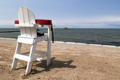 Empty Life Guard Chair Stock Image