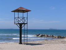 An empty lifeguard tower Royalty Free Stock Image