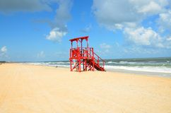 Empty Lifeguard Tower  Stock Photography