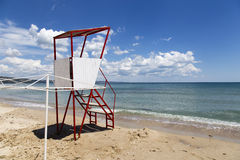 Empty lifeguard tower chair Stock Image