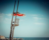 Empty lifeguard tower Royalty Free Stock Image