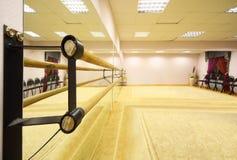 Empty light ballet class Stock Images