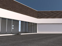 Empty light big hall 3D rendering Royalty Free Stock Photography