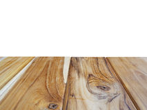 Empty light teak wood table top or wood bridge Royalty Free Stock Photography
