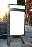 Empty lightbox on the city streets. Vertical Royalty Free Stock Photos