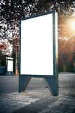 Empty lightbox on the city streets. Vertical Stock Photos