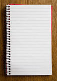 Empty Lined Paper Book. Empty Open Lined Paper Book Stock Images