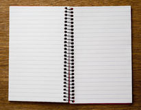 Empty Lined Paper Book. Empty Open Lined Paper Book Double Page Royalty Free Stock Image