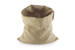 Empty Linen sack Royalty Free Stock Photography