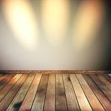 Empty lines wall with 3 spot lights. EPS 10 Royalty Free Stock Image
