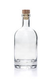 Empty liquor bottle. On a white background Stock Photos