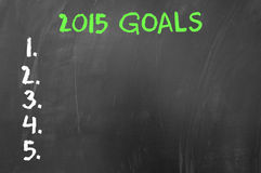 Empty list of 2015 goals Royalty Free Stock Photography