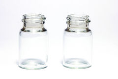Empty little bottles Stock Photo