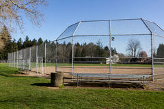 Empty Little League Diamond. Little league baseball field portland oregon Stock Images