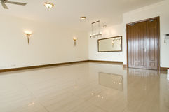 Empty living room. Of an unoccupied high end condominium Stock Photos