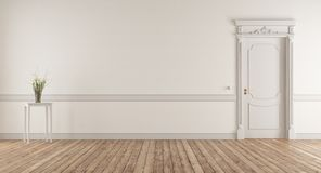 Empty living room in classic style royalty free stock photo