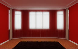 Empty living room. 3d illustration of an empty living room Royalty Free Stock Photos