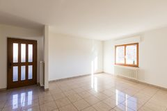 Empty living room entrance in a house stock photography