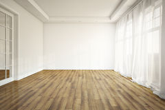 Empty Living Room. Without furniture. 3d render Stock Photography