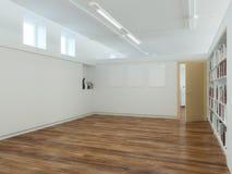 Empty Living Room With Laminate Flooring. Empty Living Room Interior With Laminate Flooring Stock Photos