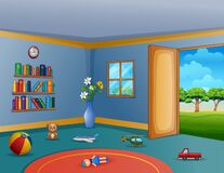 Free Empty Living Room With The Messy Children Toys Stock Photo - 168754430