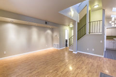 Empty living room with wood floors and color paint in San Diego California Royalty Free Stock Image