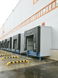 Empty loading docks Stock Photos