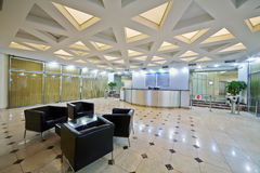Lobby at business center Stock Images