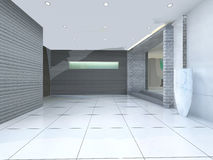 Empty lobby interior royalty free illustration