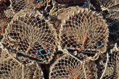 Empty Lobster pot background - wallpaper Stock Image