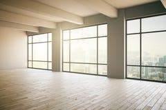 Empty loft interior Stock Photos