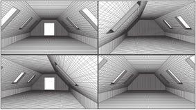 Empty Loft Interior Vector Stock Photography