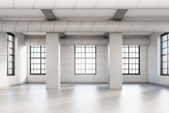 Empty loft room with columns Royalty Free Stock Photo