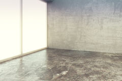 Empty loft style room with concrete floor and wall Royalty Free Stock Images