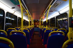 Empty London Bus Stock Photography